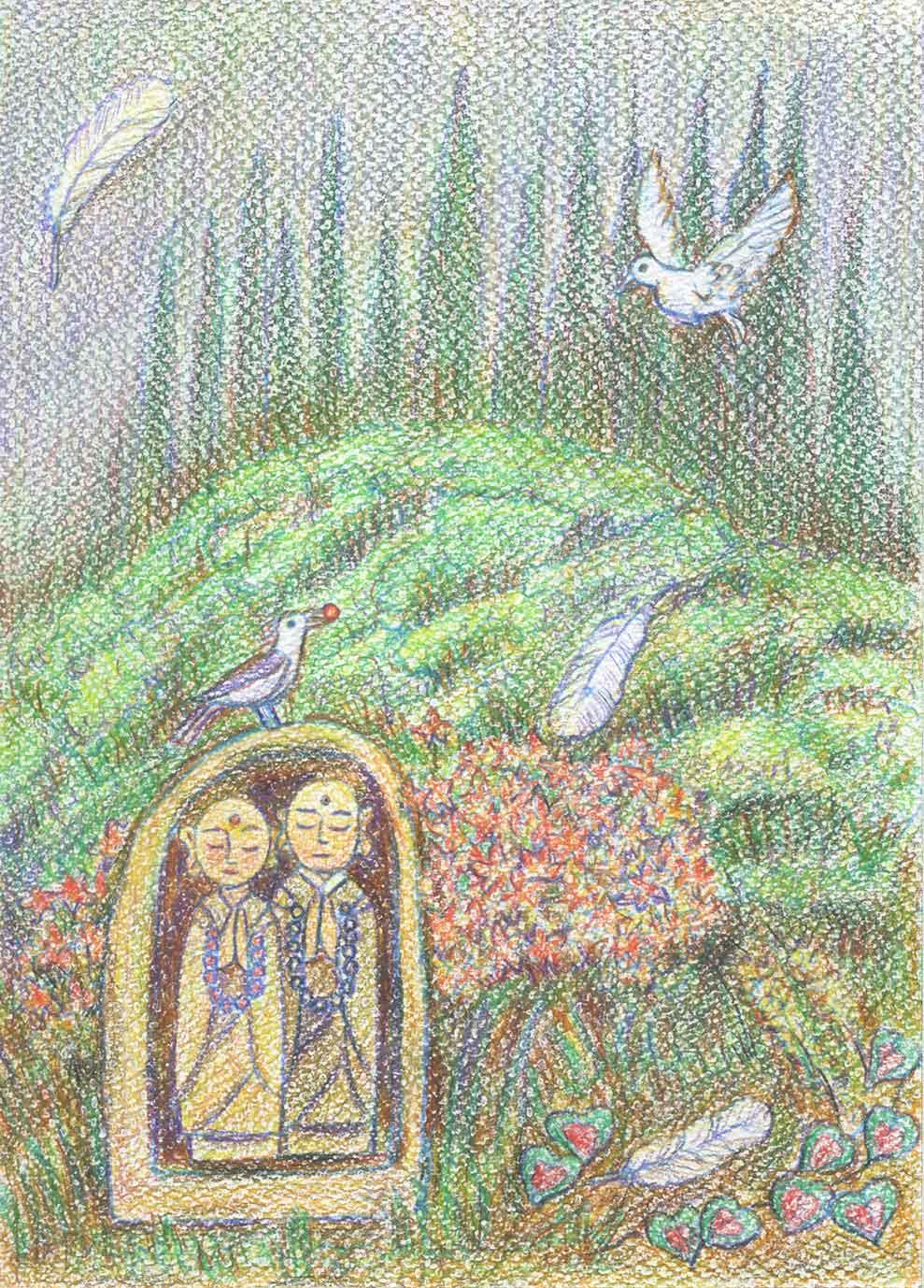 私、川口悟のぬり絵作品です。同じく「豊受けのぬり絵」