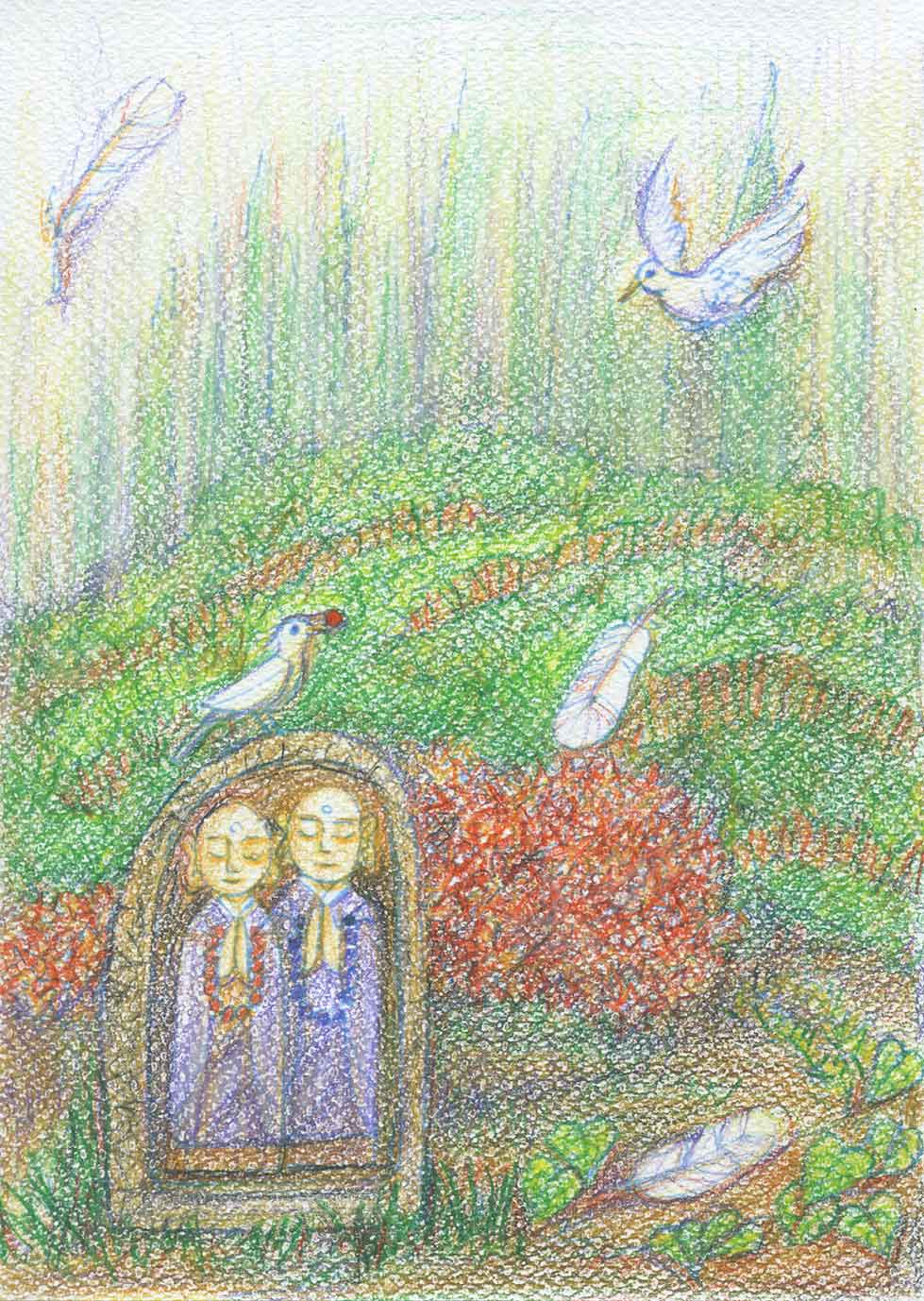 宇宙描吾子のぬり絵作品です。「豊受けのぬり絵」