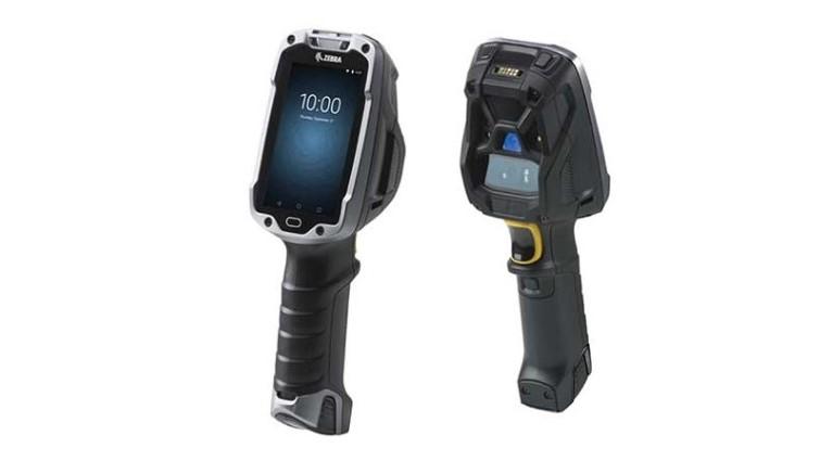 TC8300 mobiler Handscanner Seitlich