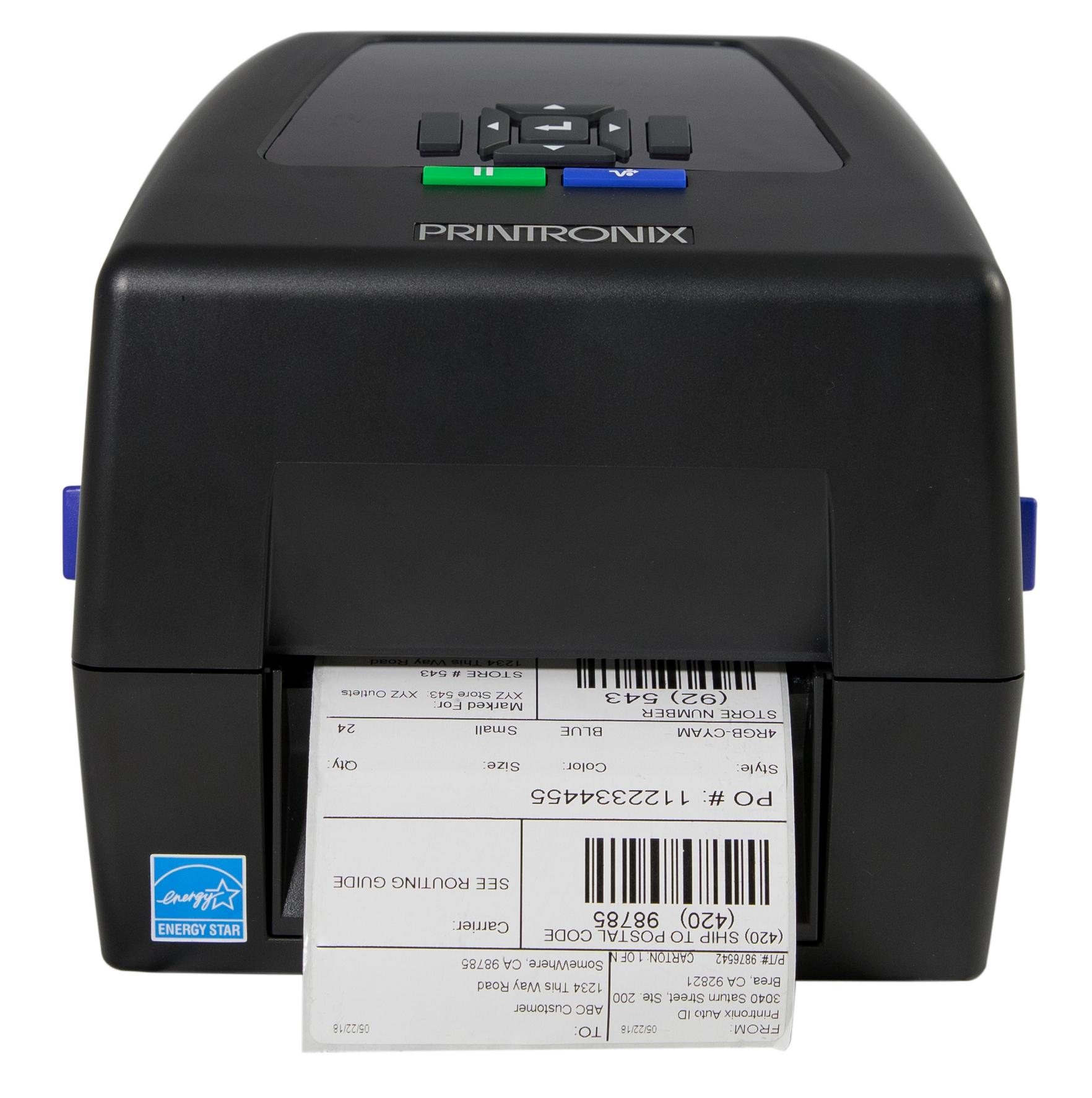 Printronix T800 Front mit Etikett