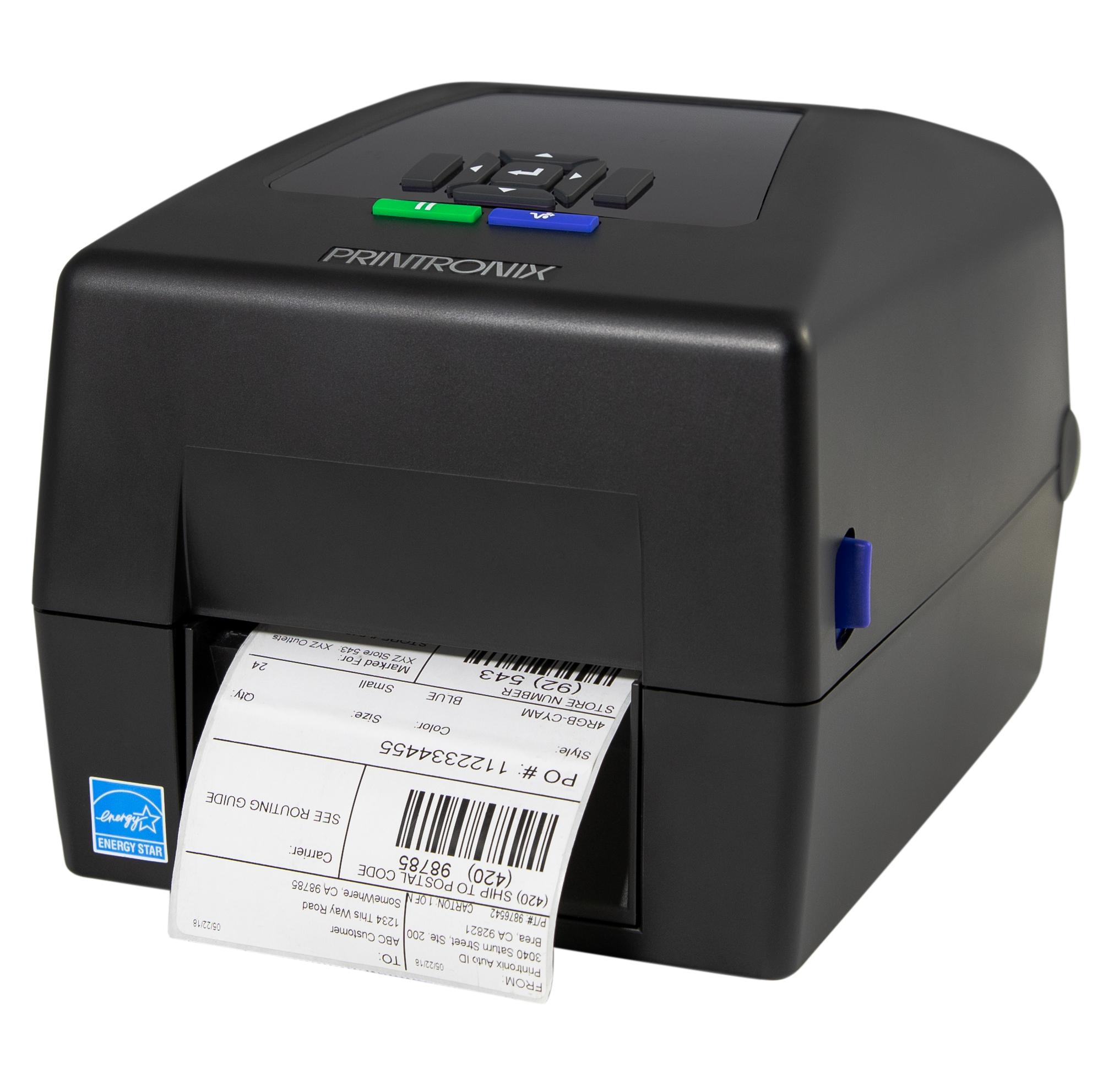 Printronix T800 seitlich mit Etikett