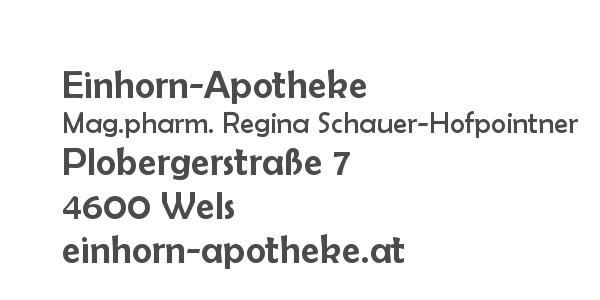 Balanox™ Partner Wels: Einhorn-Apotheke ::: Mag.pharm. Regina Schauer-Hofpointner