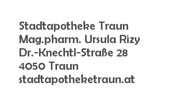 Balanox™ Partner Traun: Stadtapotheke Traun ::: Mag.pharm. Ursula Rizy