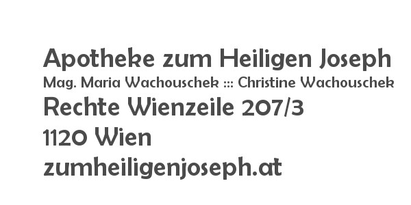 Balanox™ Partner in 1120 Wien Meidling: Apotheke zum Heiligen Joseph ::: Mag. Maria Wachouschek ::: Christine Wachouschek