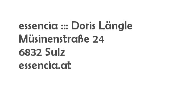 Balanox™ Partner in Sulz: essencia ::: Doris Laengle