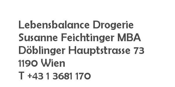 Balanox™ Partner in 1190 Wien Döbling: Lebensbalance Drogerie Feichtinger ::: Susanne Feichtinger MBA