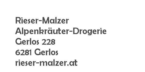 Balanox™ Partner in Gerlos: Rieser-Malzer Alpenkraeuter-Drogerie