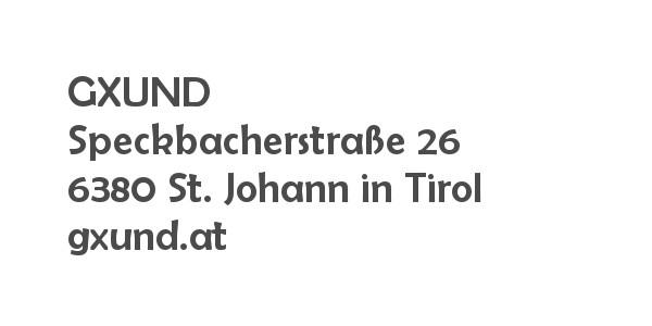 Balanox™ Partner in St. Johann in Tirol: GXUND