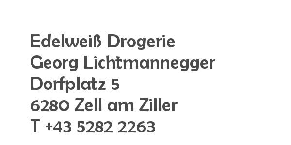 Balanox™ Partner in Zell am Ziller: Edelweiß Drogerie Lichtmannegger ::: Georg Lichtmannegger
