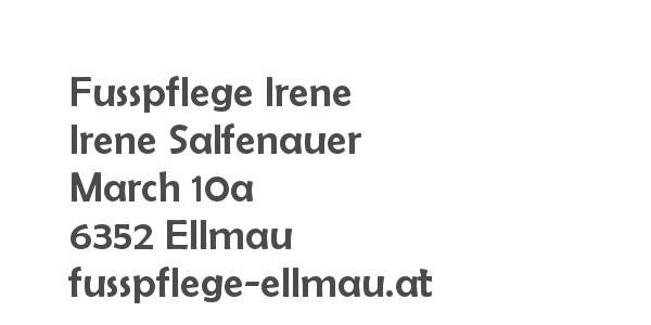 Balanox™ Partner in Ellmau: Fusspflege Irene ::: Irene Salfenauer