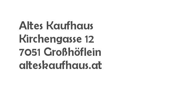 Balanox Partner Großhöflein: Altes Kaufhaus | Regina Rokob