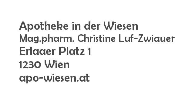 Apotheke in der Wiesen ::: Mag.pharm. Christine Luf-Zwiauer