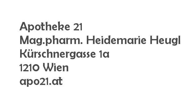 Balanox™ Partner in 1210 Wien Floridsdorf: Apotheke 21 ::: Mag.pharm. Heidemarie Heugl