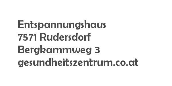 Balanox Partner Rudersdorf: Entspannungshaus Gesundheitszentrum Martina Unger