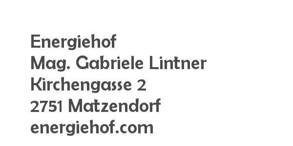 Balanox Partner Matzendorf: Energiehof Mag. Gabriele Lintner & Martin Müller