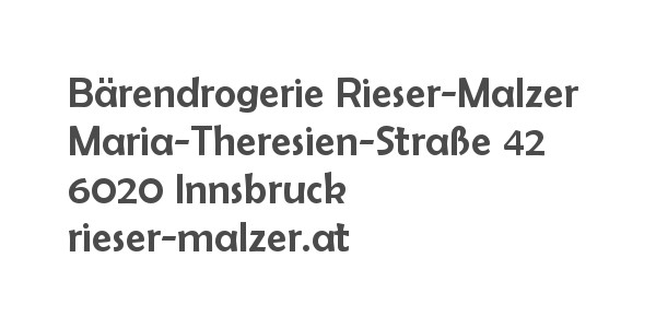 Balanox™ Partner in Innsbruck: Bärendrogerie Rieser-Malzer