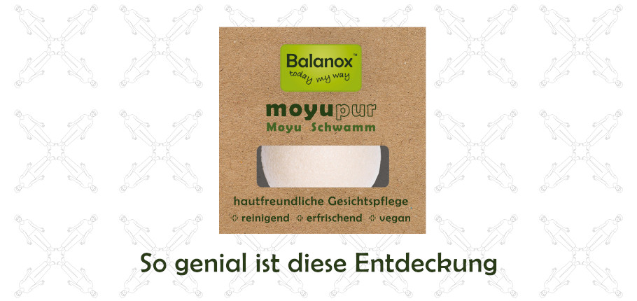 Balanox moyupur: Moyu Schwamm zur Gesichtspflege, Dusche, Bad & Peeling. Ohne Mikroplastik, vegan.