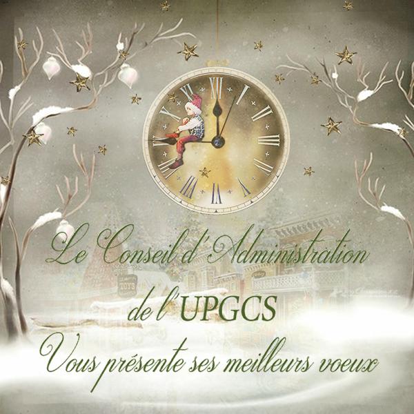 Carte de fin d'année aux membres de l'UPGCS