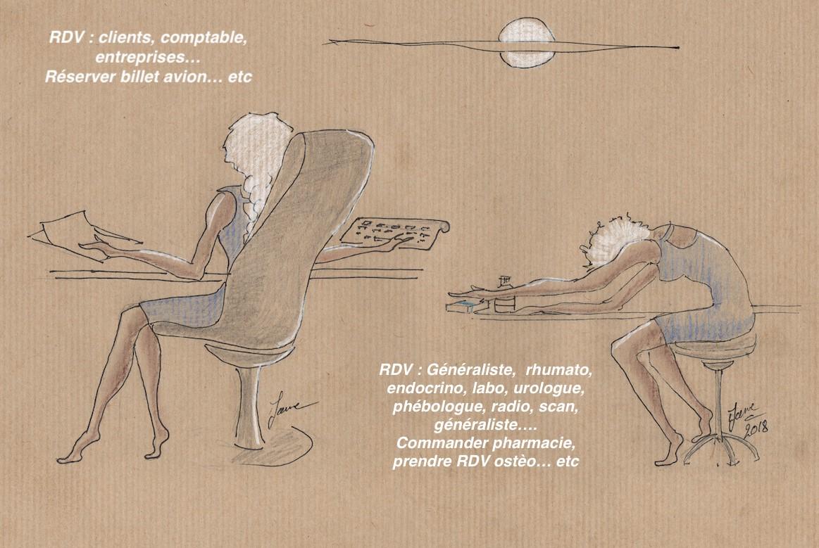 Travailler en étant malade, et enchainer les rendez-vous spécialistes