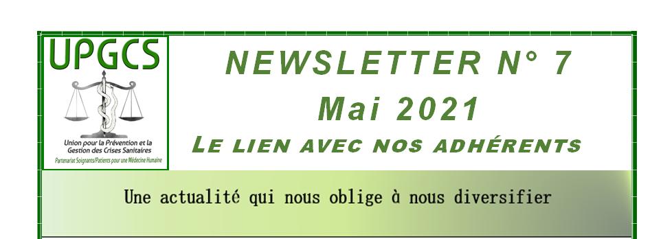 La newsletter de l'UPGCS : le numéro 7 est disponible