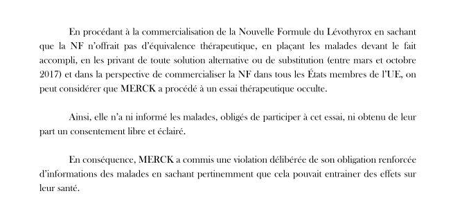 Levothyrox Merck nouvelle formule essai thérapeutique