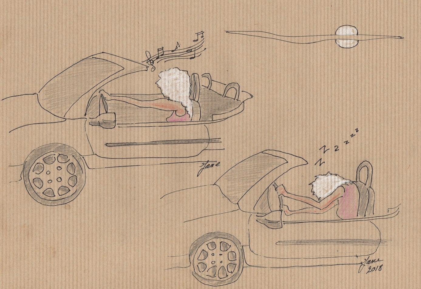 le danger en voiture