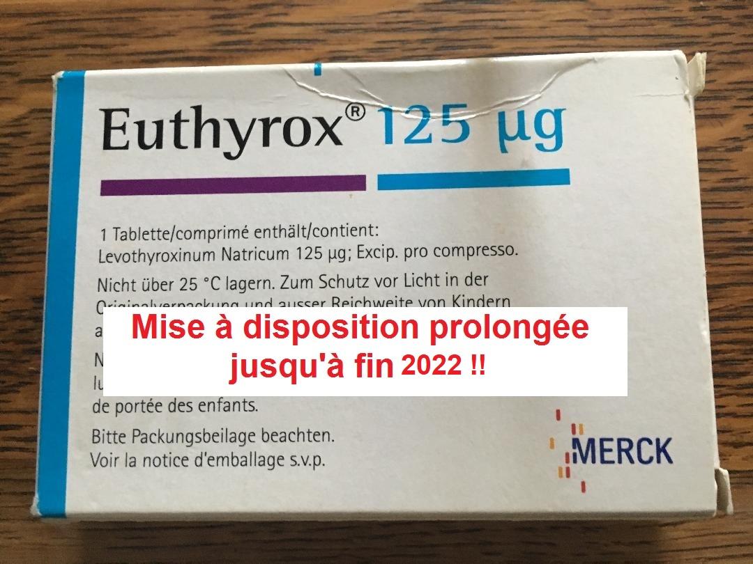 L'euthyrox au lactose sera maintenu jusqu'à fin 2022