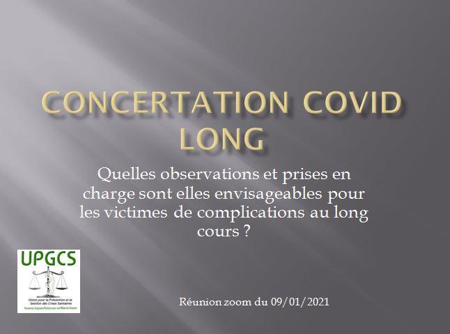 "Compte rendu de la concertation UPGCS ""Covid longs"""