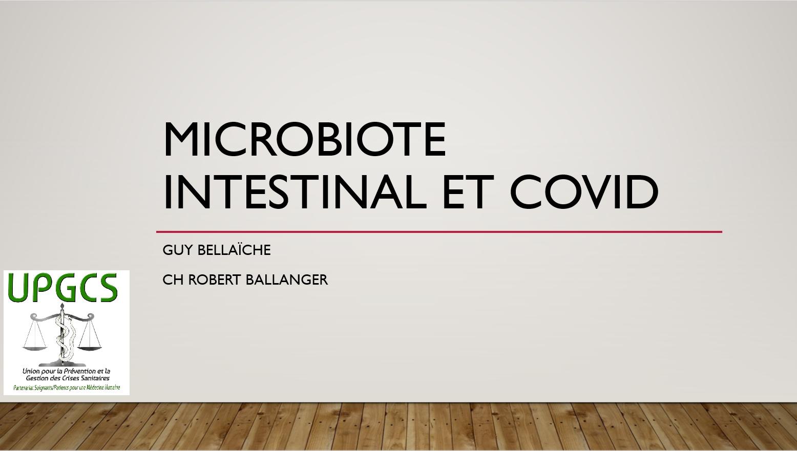Microbiote intestinal et Covid, une conférence du Docteur Guy Bellaïche