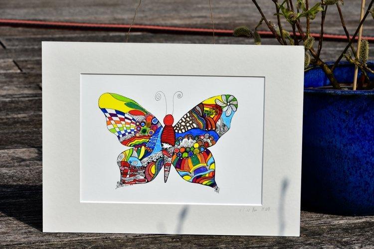 Schmetterling gedruckt Epson Farbdruck