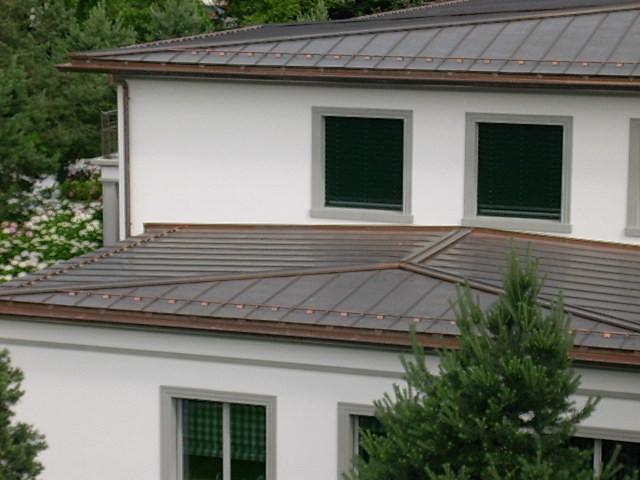 Falzdach in Kupfer, Hergiswil