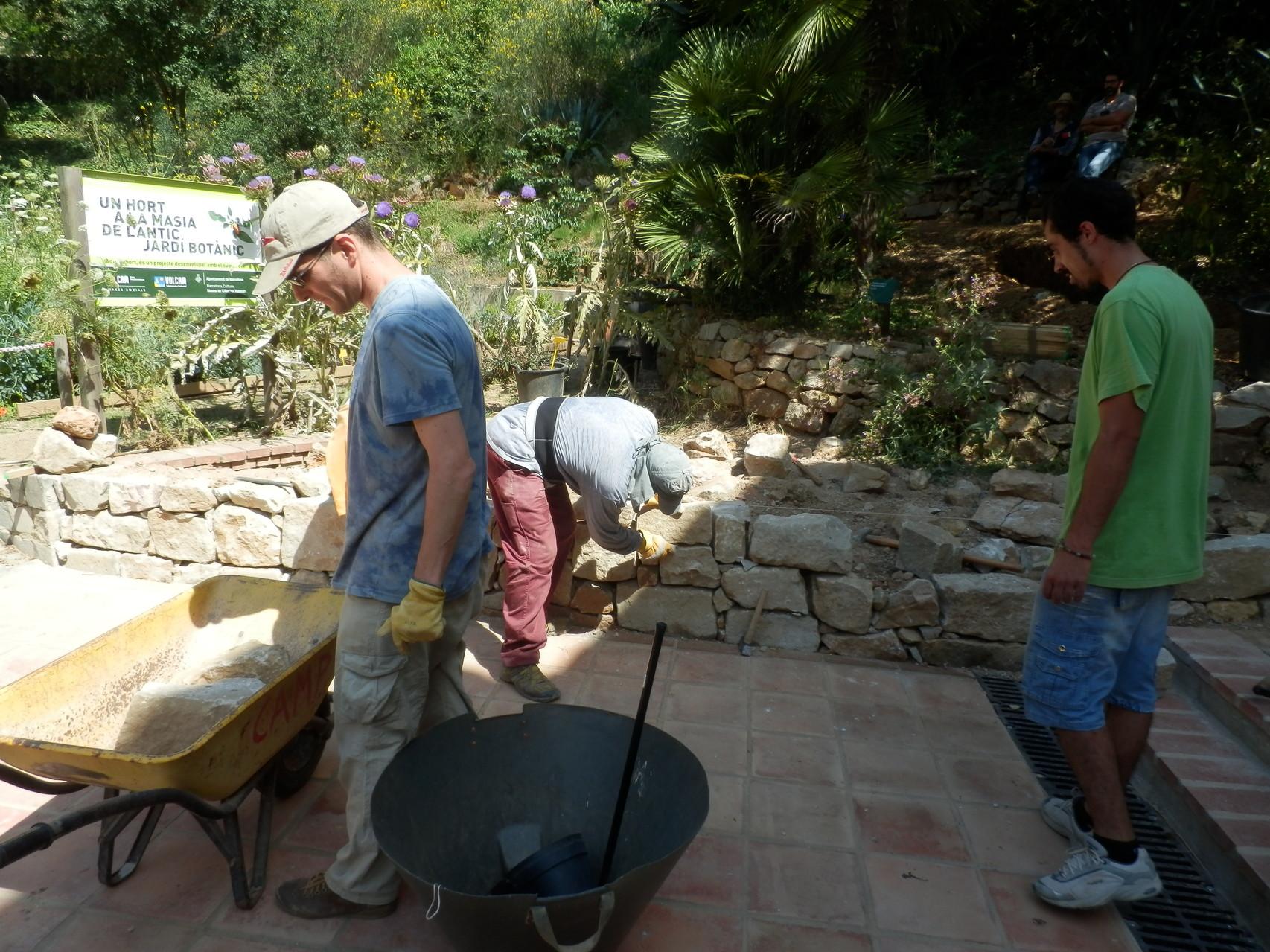 3r Camp de treball: Millorem l'entorn de la Masia ( juliol 2013)