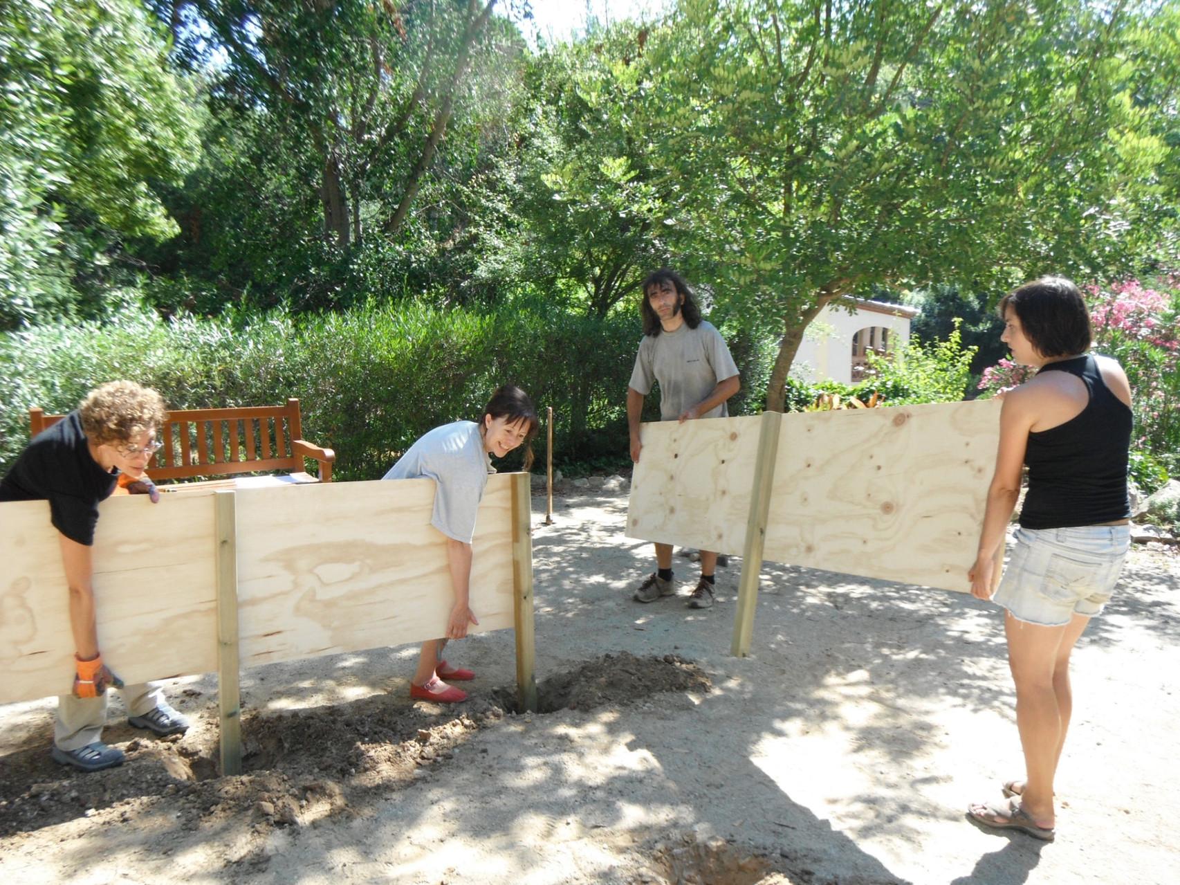 2n Camp de treball: Creació d'un Jardí sensorial experimental