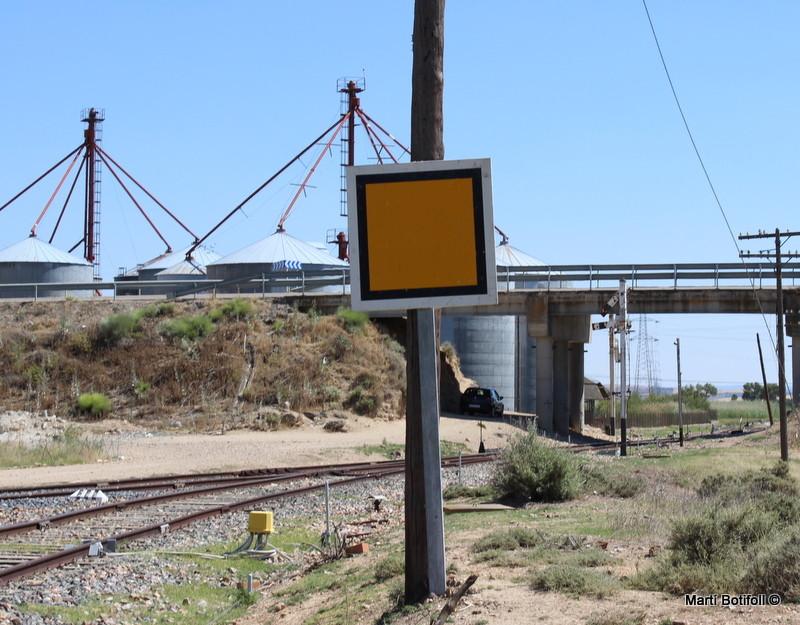 Señal de Fin de limitación de velocidad situada en la entrada de Villaseca-Moncejón lado Villaluenga-Asland (Cgd.)