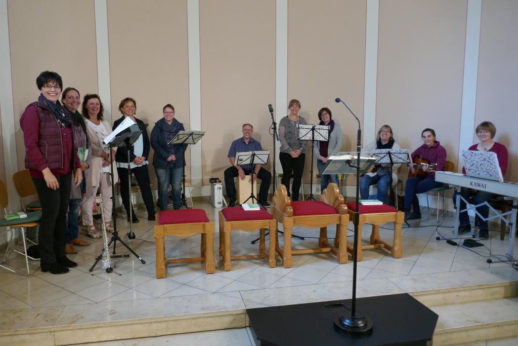 Der Kreis für junge Musik bei der Hl. Messe am Familientag am 23.09.2018