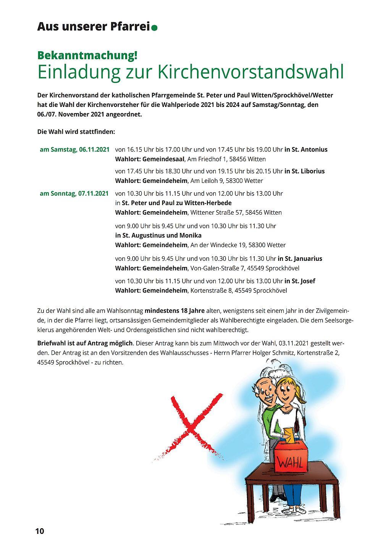 Einladung zur Kirchenvorstandswahl
