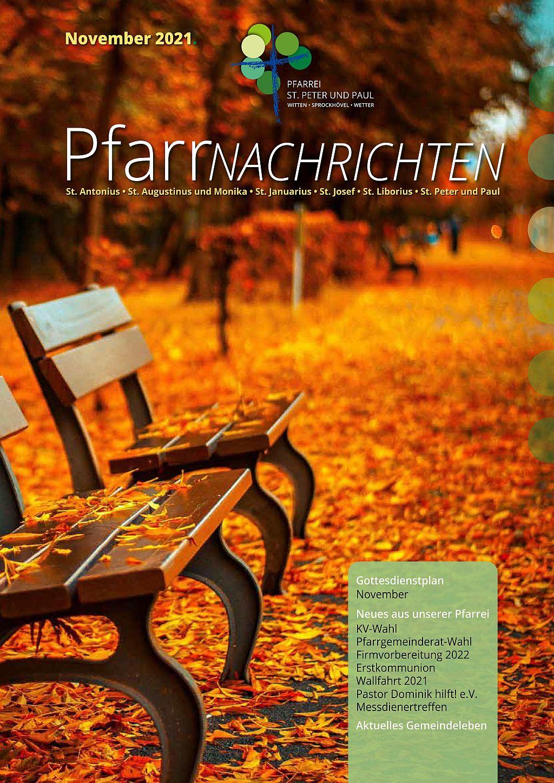 Pfarrnachrichten November 2021