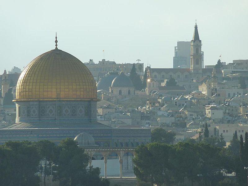 Felsendom mit seiner goldenen Kuppel in Jerusalem