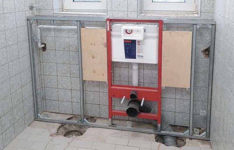 Gemeindeheim bekommt neue Toiletten