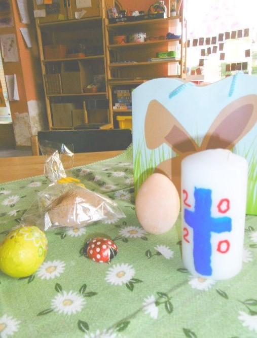 Die Osterkerze im Kindergarten