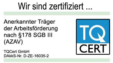 LEDERER_training ist anerkannter Träger der Arbeitsförderung nach § 178 SGB III (AZAV) für Maßnahmen der Agentur für Arbeit und der Jobcenter