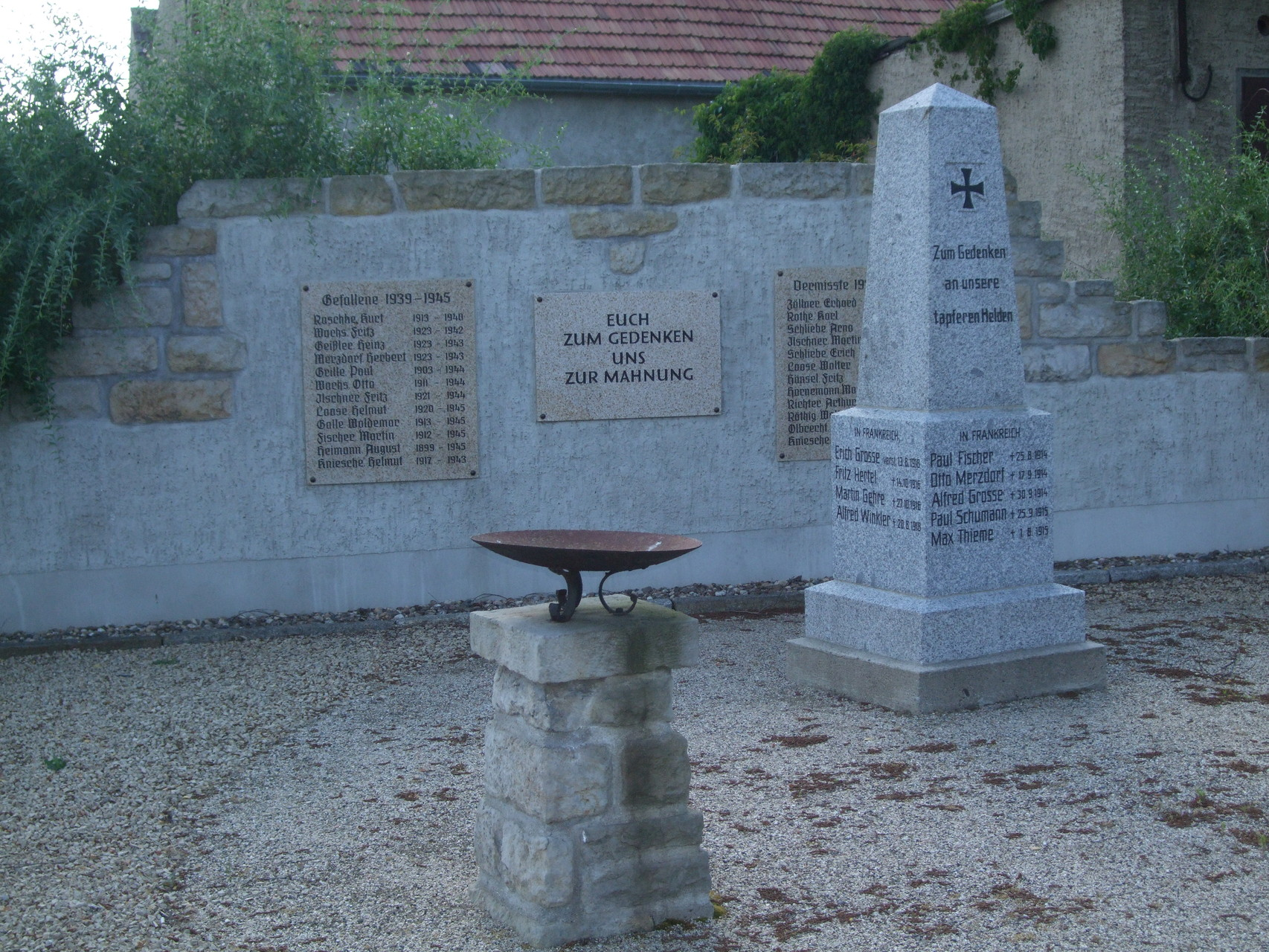 Denkmal 1. und 2. Weltkrieg