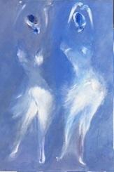 """""""Imaginaire 2019-18"""", acrylique sur toile, 70 x 50"""