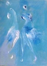 """""""Imaginaire 2019-21"""", acrylique sur toile, 70 x 50"""
