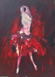 """""""Imaginaire 2019-22"""", acrylique sur toile, 70 x 50"""