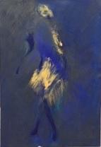 """""""Imaginaire 2019-19"""", acrylique sur toile, 55 x 38"""