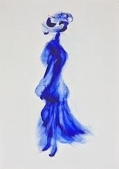 """""""Imaginaire 2019-17"""", acrylique sur toile, 70 x 50"""