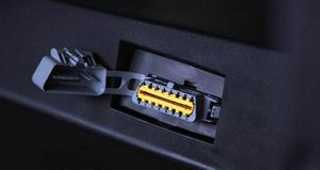 OBD-2 connector for diagnosis - it should be connected to the adapter