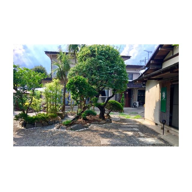 母屋の庭も日本庭園をイメージし新たに作成いたしました。夜には幻想的なライトアップで御客様をお迎え致します。夜の施術は幻想的な雰囲気もプラスされ癒し感も最高です。