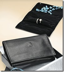 Schmuckrolle, schwarz Nappa Leder, für reisen